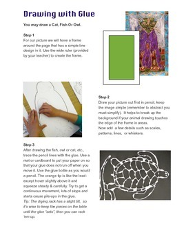 Drawing with Glue