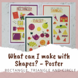 Drawing with Shapes Posters - Triangles, Squares and Circles