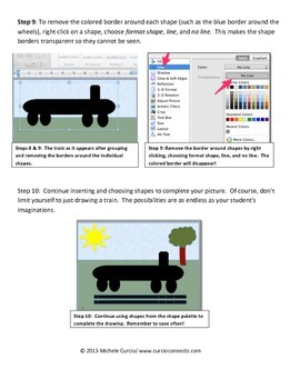 Drawing with Shapes Using Microsoft Word