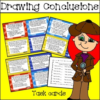 Drawing Conclusions Task Cards & Center Activities