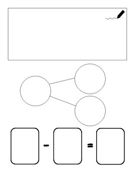 Drawings, Number Bonds, and Number Sentences Template