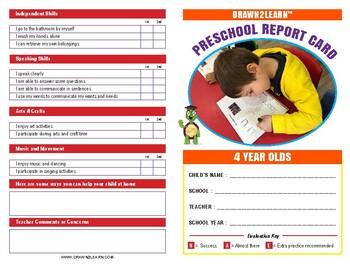 Drawn2Learn Pre-K Report Card