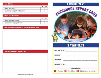 Drawn2Learn Report Card - 2 Year Old