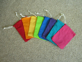 Drawstring Bags for Classroom Organization (Set of 8) Fabric