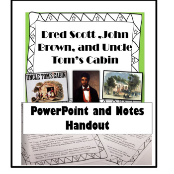 Dread Scott and Uncle Tom's Cabin