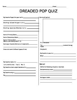 Dreaded Pop Quiz #1
