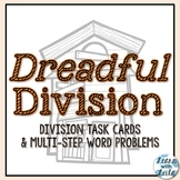 """Halloween """"Dreadful Division"""" Task Cards and Multi-Step Wo"""