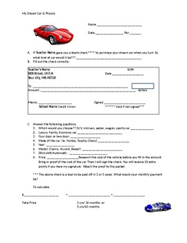 Dream Car and Physics Project