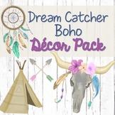 Dream Catcher Boho Theme Editable Classroom Decor