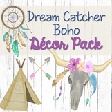 Dream Catcher Boho Shiplap Theme Editable Classroom Decor