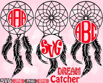 Dream Catcher Circle frame clipart Boho Bohemian Feathers