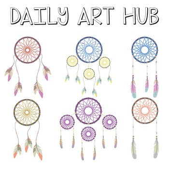 Dream Catcher Clip Art - Great for Art Class Projects!