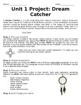 picture about Legend of the Dreamcatcher Printable referred to as Desire Catchers Worksheets Education Supplies TpT