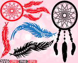 Dream Catcher clipart Boho Bohemian dream Feathers indian Native Tribal -506s