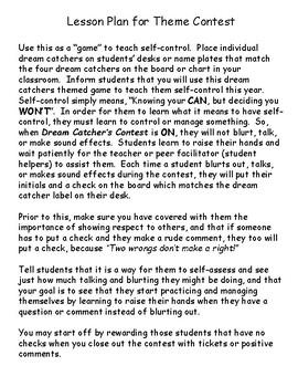 Dream Catcher's Theme Contest to Teach Self-Control