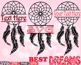 Dream Catcher split clipart Boho Bohemian Feathers indian Native frame -505s