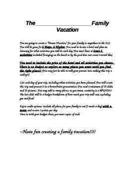 Dream Family Vacation
