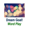 Dream and Goal Anagram: Printable Word Play Activity: