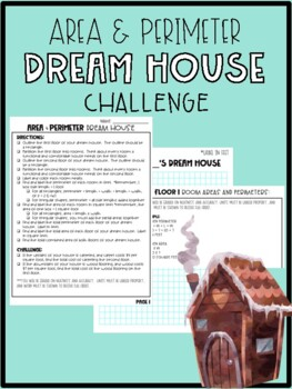 Dream House Area & Perimeter Geometry Challenge