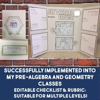Dream House Design Project EDITABLE Math Grades 6-10