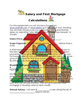 Dream House Mortgage Calculations
