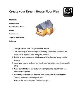 Design Your Dream House Plan-Measurement Activity