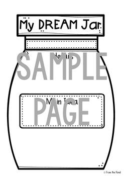 Dream Jar Writing Activity - Main Idea + Detail