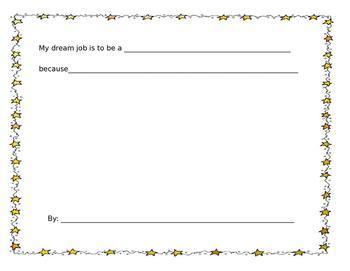 Dream Job worksheet