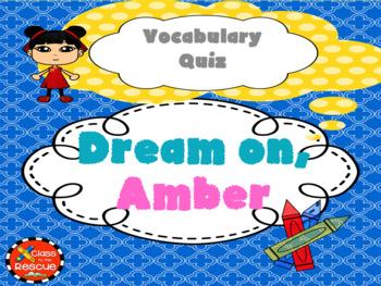 Dream On, Amber Vocabulary Boom Cards