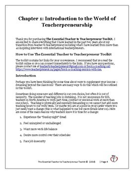 Dream Outside the Classroom: The Essential Teacher to Teachepreneur Toolkit