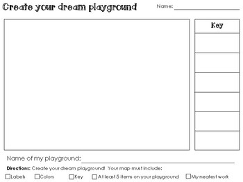 Dream Playground - Create your own map activity