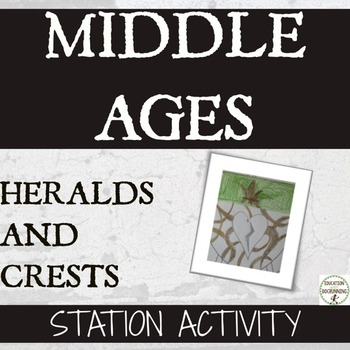 The Middle Ages Heraldry crests station activity