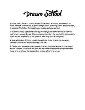 Dream School Design - Math Project Based Learning