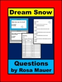 Dream Snow by Eric Carle Printable Questions Task Card & Worksheet Set