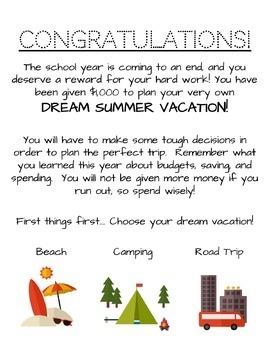 Dream Summer Vacation (A Budget Activity)