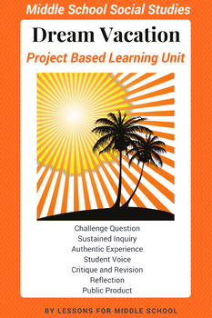 Project Based Learning - Plan a Dream Vacation - ELA/Social Studies - Geography