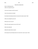 Dream Within a Dream by Edgar Allan Poe Worksheet and Quiz
