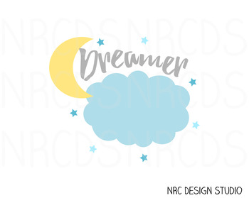 Dreamer SVG Cutting File - Commercial Use SVG, DXF, EPS, png