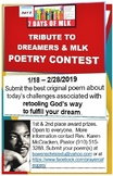 Dreamers & MLK Tribute Poetry Contest - Black History Mont
