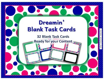 Dreamin' Blank Task Cards