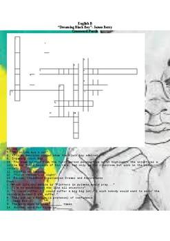Dreaming Black Boy Crossword Puzzle