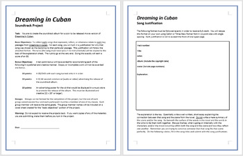 Dreaming in Cuban - Soundtrack Project