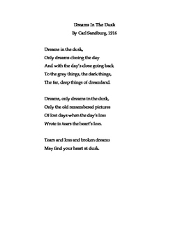 Dreaming in Poetry