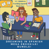 Dreaming in Spanish Mega Book Bundle: Spanish Level 1-3: 17 stories+Activities