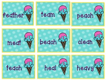 "Dreaming of Ice Cream with ""EA"" words"