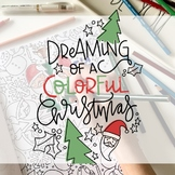 Dreaming of a Colorful Christmas Digital Coloring Book