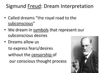 Dreams/Interpretation: Notes, homework, in class writing