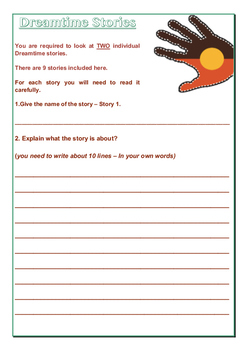 Dreamtime Stories Activities