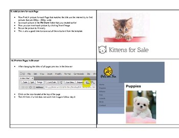 Dreamweaver Web Page Project Step by Step directions Create an Online Pet Store