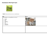 Dreamweaver Web Page Project Step by Step directions Creat